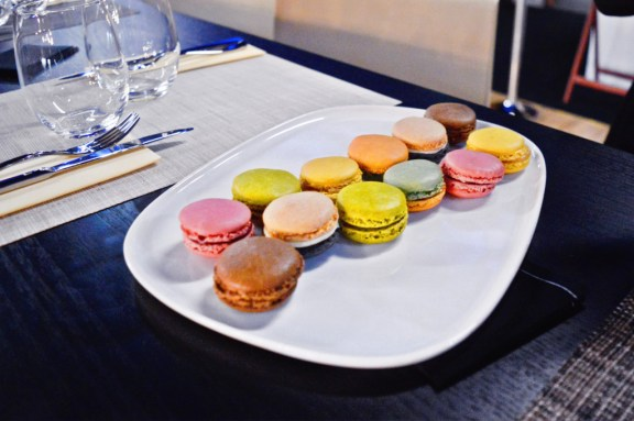 Macarons at the AccorHotels Arena in Paris.