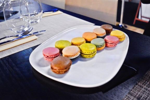 Macarons at the AccorHotels Arena in Paris.
