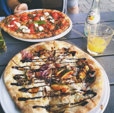 Eating Pizza in Amsterdam