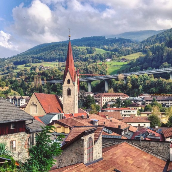 The village of Klausen in South Tyrol