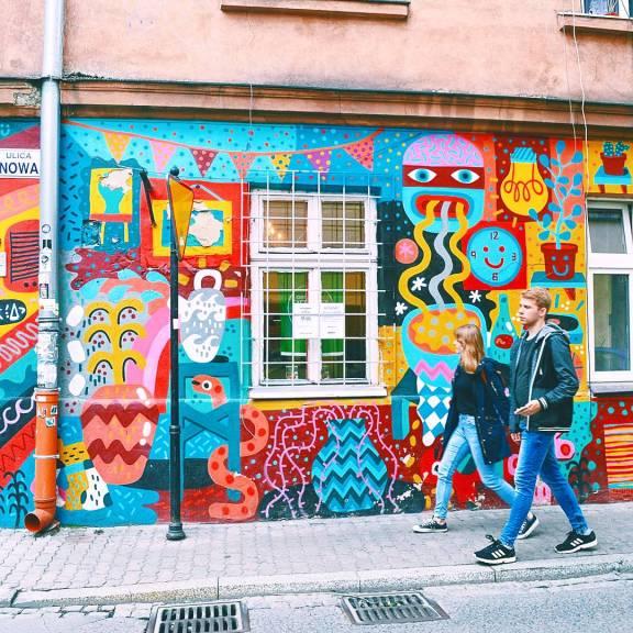Street art in the Jewish Quarter in Kraków