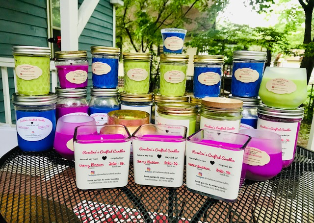 Roseline's Crafted Candles is a black woman & immigrant-owned, homemade business located in Minneapolis, MN. Started by candle lovers & collectors of beautiful jars. All candles are 100% Soy Wax & hand-poured in Recycled Glass Jars. Roseline's Crafted Candles fully believes in recycling, reusing, and upcycling. These values are carried out by the fact that we only use recycled & upcycle jars. We collect jars from friends, families, and thrift stores. We also cut wine/beers bottles and upcycle them into candle jars. We also provide custom candles for special events such as weddings, birthdays, and funerals. Have a favorite type of jars that you like scented candles in? We can work with that! Need candles in only certain scents and/or want to combine a unique scent? Let's chat! We believe in innovation and do our best to cater to our customers' needs while providing high-quality products