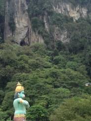 Hanuman (The Monkey King, protecting the entrance to Ramayana Caves)