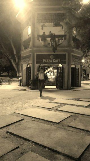 Walking at night around the park in Gracias ©RosellaMartinez