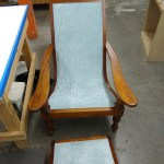Upholstery Chair and Ottoman - After - 2020