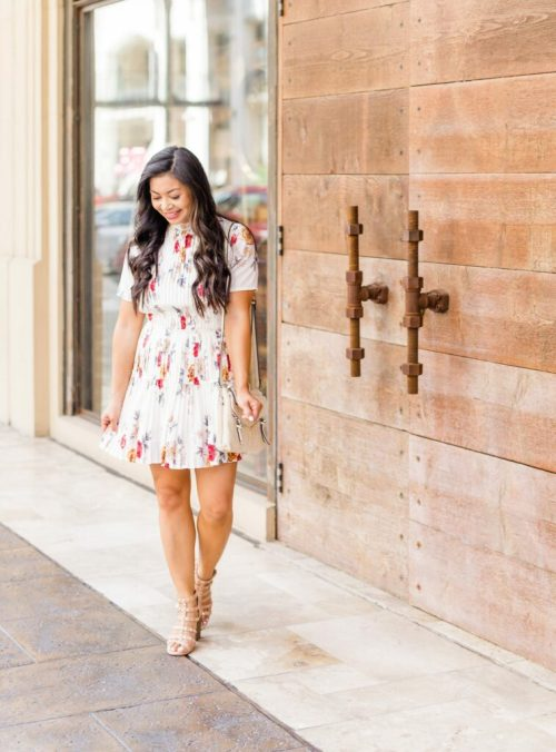pleated-floral-dress