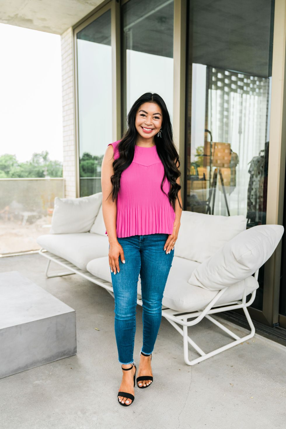 pink-pleated-top