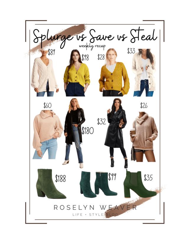 Splurge vs Save vs Steal