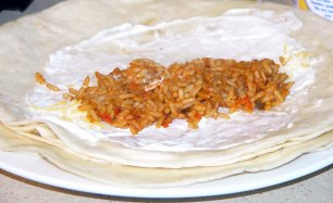 Spicy Chicken and Rice Burritos (1)