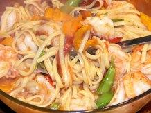 Colorful Spicy Lemon-Garlic Shrimp Linguine (9)