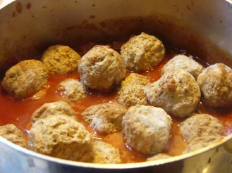 Spaghetti Meat Sauce with Meat Bals (2)