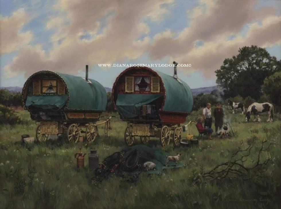 Oil Paintings of Gypsies By D. R Lodge