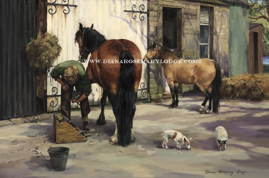 Oil paintings of horses by Rosemary Lodge