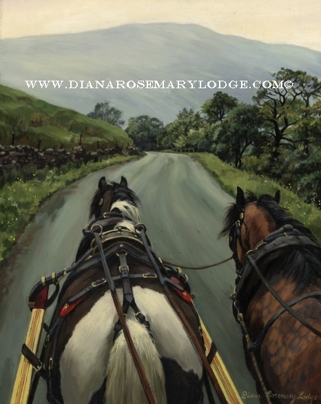 Romany wagon paintings by Rosemary Lodge