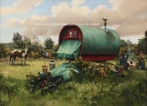 Gypsy Wagon Paintings by Diana Rosemary Lodge