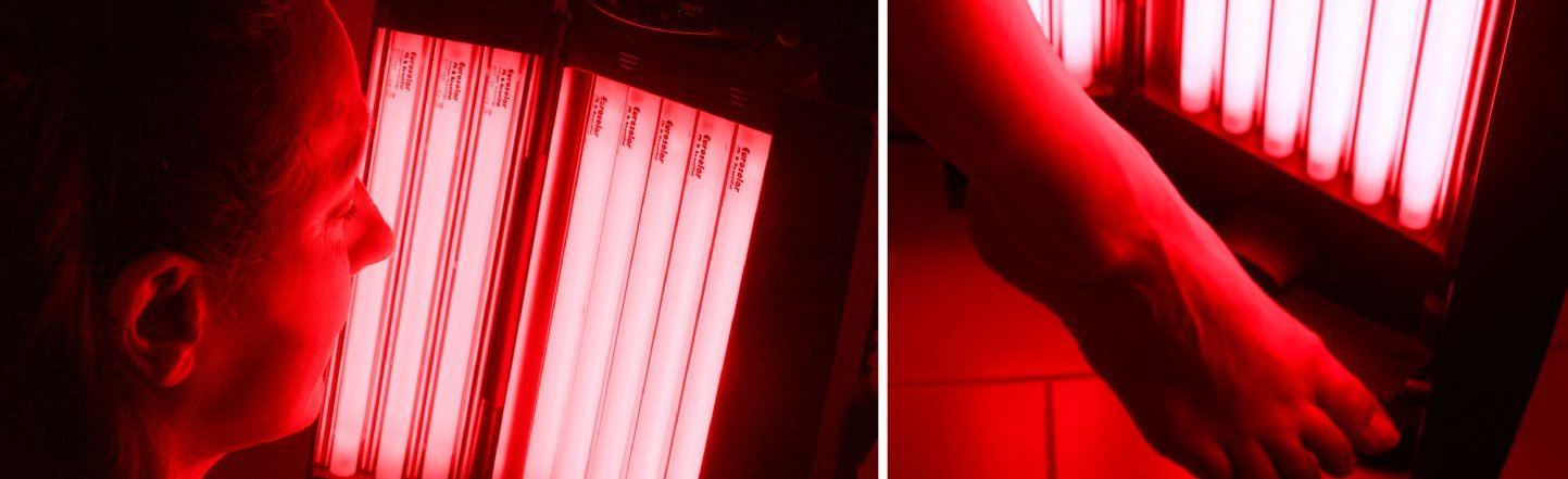 My red-light collagen lamps