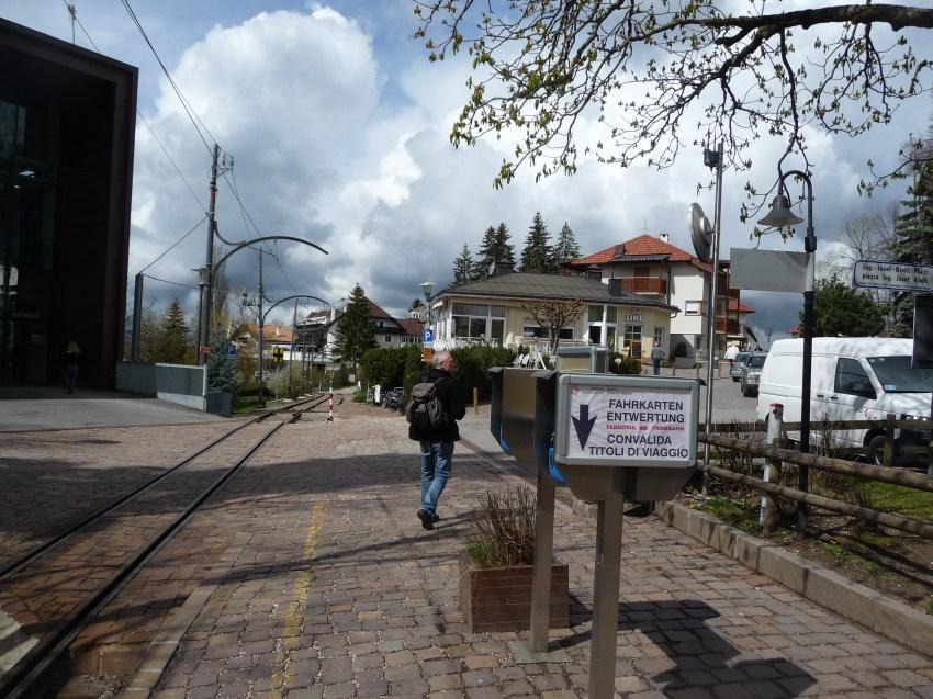 The railway tracks at Oberbozen (above Bolzano Dolomites)