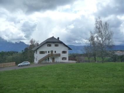 Typical alpine house near Oberbozen Dolomites