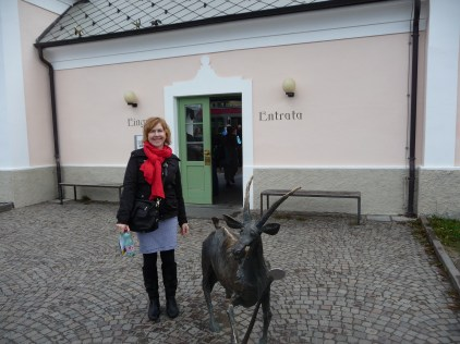 """The station entrance with resident """"ibex"""""""