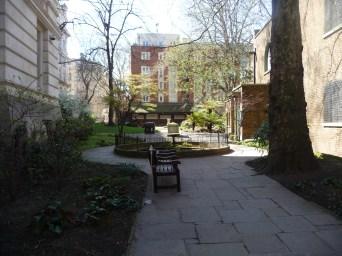 The little park next to St Botolph's Aldersgate
