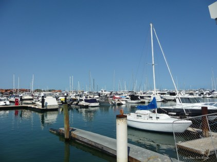 Boats moored at Hillarys Boat Harbour