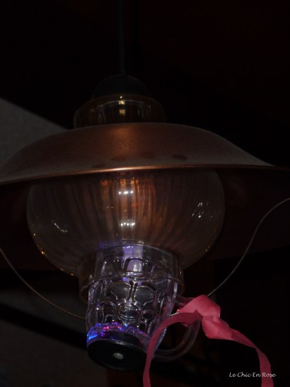 The guests at the adjacent table to ours created their own lighting effect using a beer glass