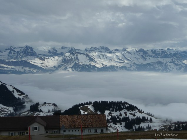 The clouds obscured the valley