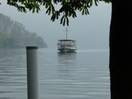 Ferry approaching Weggis Quay
