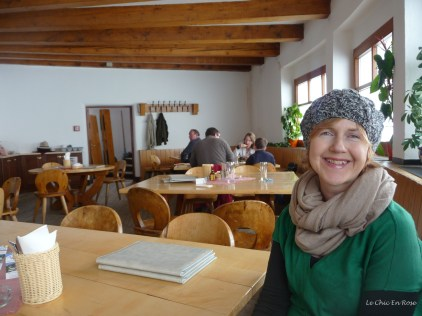 Inside the restaurant at Hafelekar
