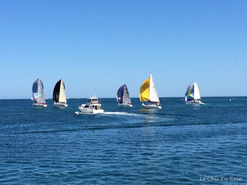 Yachts on Indian Ocean