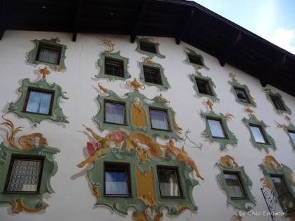 The buildings were beautiful with painted frescoes