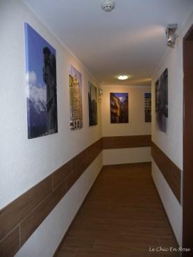 View down the corridor