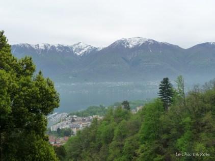 View of Lake Maggiore and Lepotine Alps