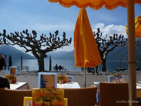 View of Lake Maggiore from the Ristorante Albergo Alporto Ascona