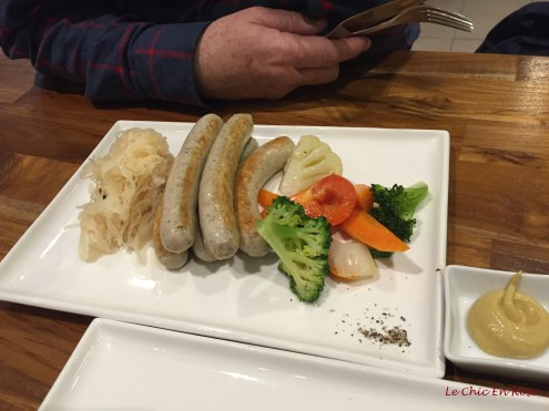 Wurst selection with vegetables - Monsieur Le Chic's dish of choice