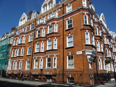Paddington Street Marylebone London - houses on the opposite side of the road to number 59