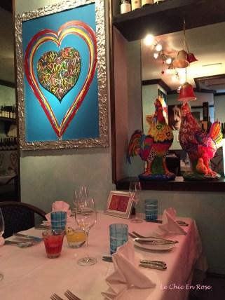 Heart themed motifs and artwork