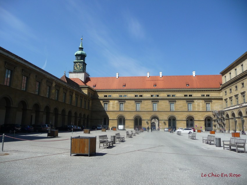 One of the many courtyards in the Residenz complex
