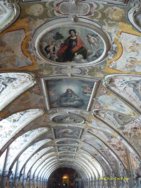 Ceiling detail of the Antiquarium