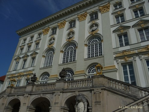 The back facade of the Nymphenburg Palace