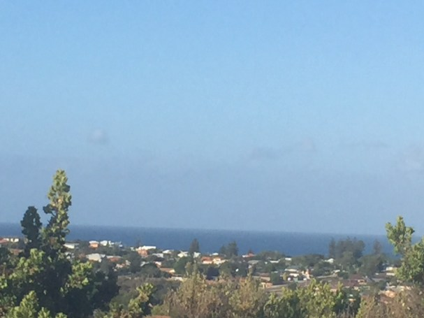 View of the Indian Ocean from Trigonometric Park (The Top Of The World) Christmas early morning