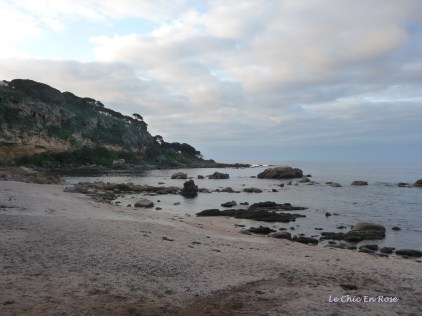 Looking across to Point Marchant on the northern tip of Bunker Bay