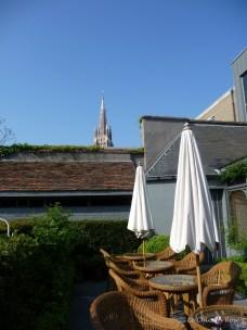 Terrace garden of the Tuilerieen Hotel Bruges