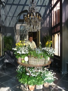 Spring Flowers in the hotel lobby at the Tuilerieen