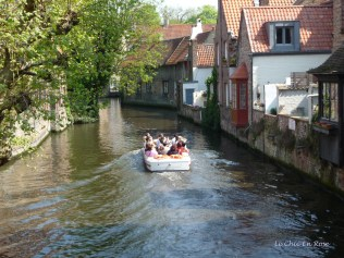 Boat on the canal Bruges