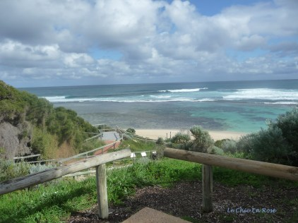 View out to the Indian Ocean and lagoon at Yallingup Beach