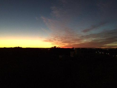 Perth sunrise - photo captured by Monsieur Le Chic and Winston Le Schnoodle on their early morning walk!