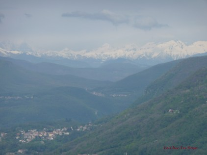 Alps In The Distance View From Brunate