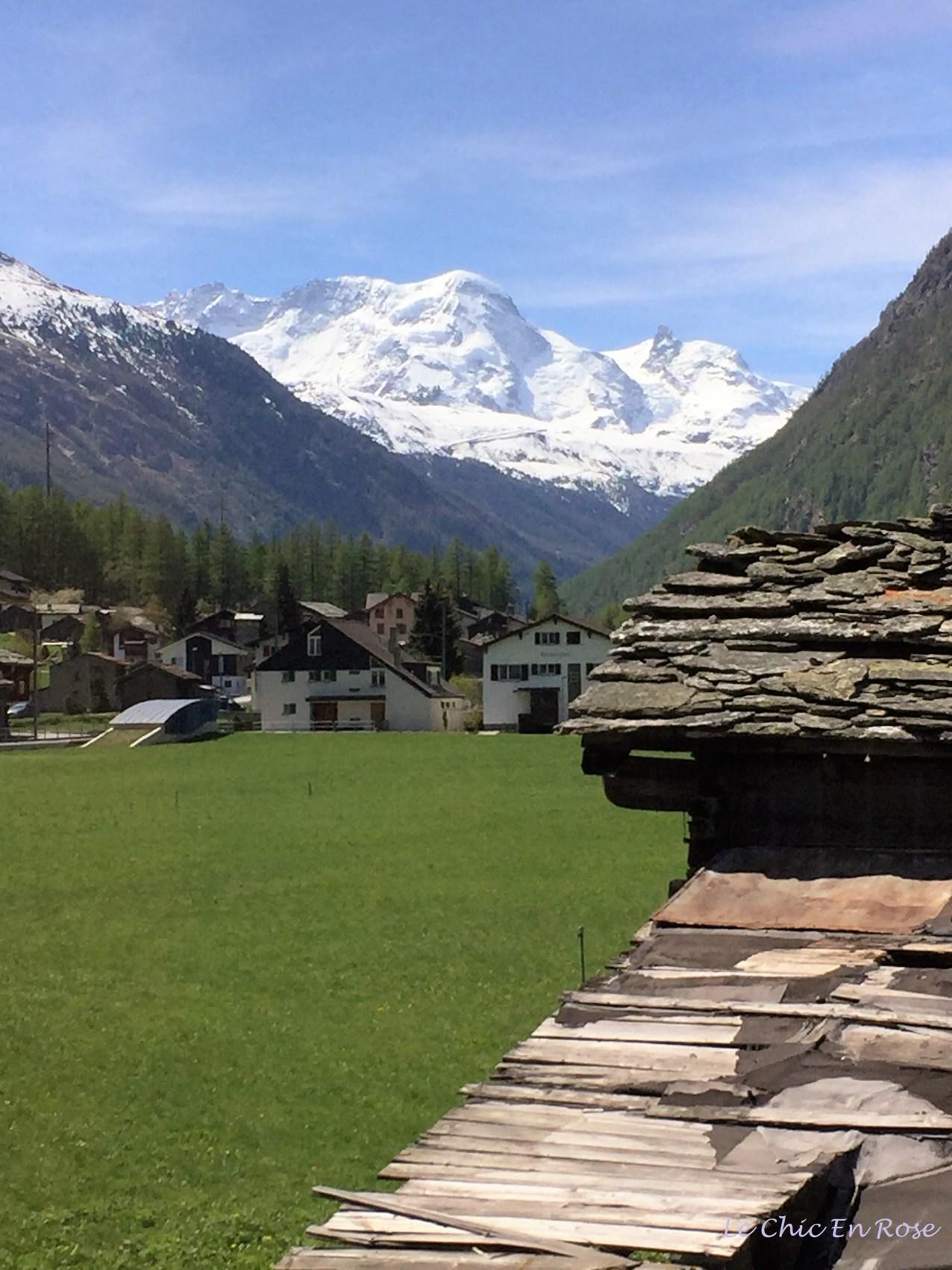 Valley Leading Up To Zermatt Switzerland