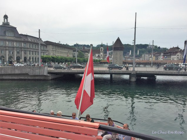 Lucerne - View Back To Town From The Lake